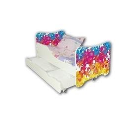 Cool Beds - Barnsäng Med Madrass Och Låda - Flowers