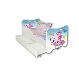 Cool Beds - Barnsäng Med Madrass Och Låda - Little Kitty