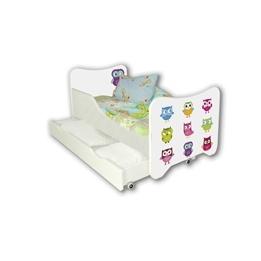 Cool Beds - Barnsäng Med Madrass Och Låda - Owls