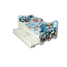 Cool Beds - Barnsäng Med Madrass Och Låda - Police