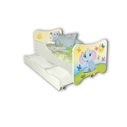 Cool Beds - Barnsäng Med Madrass Och Låda - Small Elephant