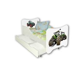 Cool Beds - Barnsäng Med Madrass Och Låda - Tractors
