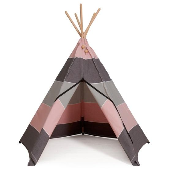 Hippie Tipi - Lektält - 100% Ekologisk Bomull - North - Grå