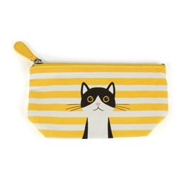 Catseye - Yellow Cotton Cat Small Pouch