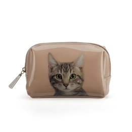 Catseye - Tabby On Taube Beauty Bag