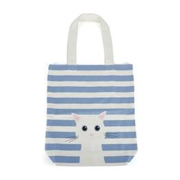 Catseye - Blue Cotton Cat Tote