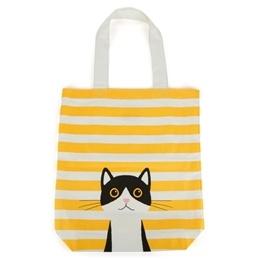 Catseye - Yellow Cotton Cat Tote