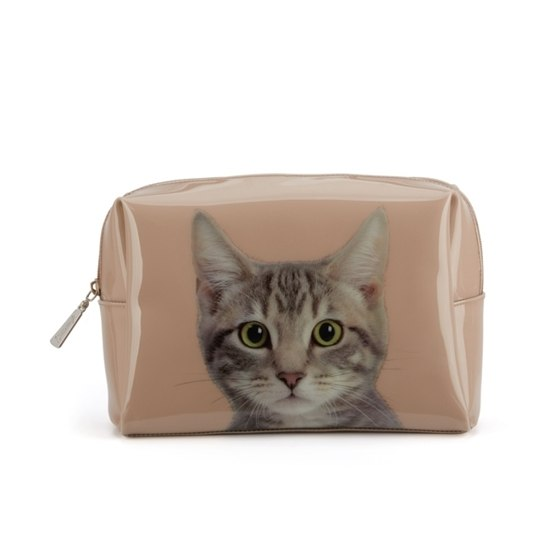 Catseye - Tabby On Taube Large Beauty Bag