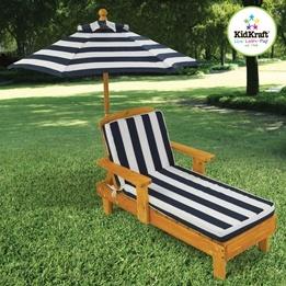 Kidkraft - Solstol -  Outdoor Chaise with Umbrella