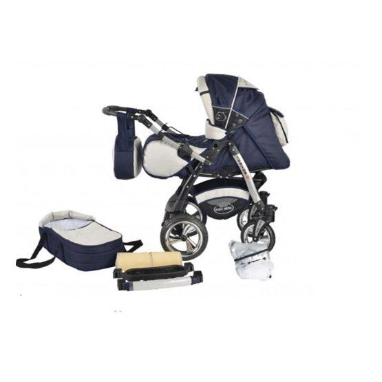 Baby Merc - Barnvagn - Junior Twist - 2 In 1 - Blå