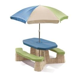 Step2 - Picknickbord - Picknickbord Med Parasoll - Ljus Färg