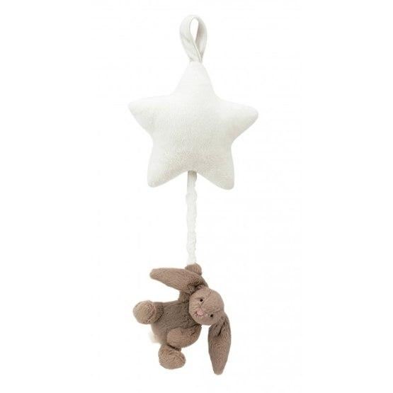 Jellycat - Bashful Beige Bunny Star Musical