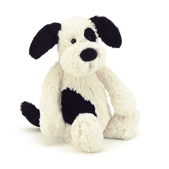 Jellycat - Bashful Black & Cream Puppy Medium