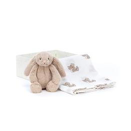 Jellycat - Gosedjur Bashful Beige Bunny Gift Set