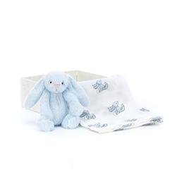 Jellycat - Gosedjur Bashful Blue Bunny Gift Set