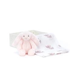 Jellycat - Gosedjur Bashful Pink Bunny Gift Set