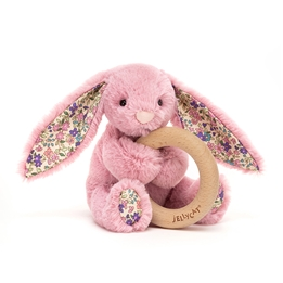 Jellycat - Gosedjur - Blossom Tulip Bunny Wooden Ring Toy