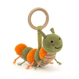 Jellycat - Gosedjur - Little Christopher Caterpillar Rattle