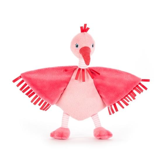 Jellycat - Snuttefilt - Flapper Flamingo Soother
