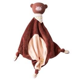 Jellycat - Snuttefilt - Bear Comforter with rubber head