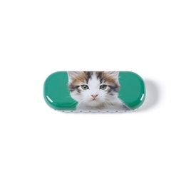 Catseye - Kitten on Green Glasses Case