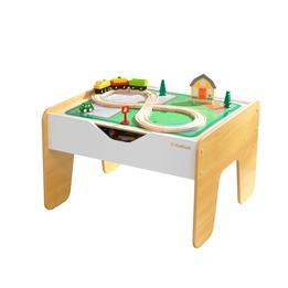 Kidkraft - 2-1 - Aktivitetsbord Och Legobord kombinerat - Grått Och Vitt