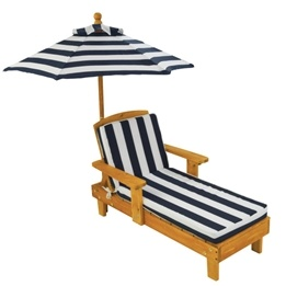 Kidkraft - Solstol -  Outdoor Chaise with Umbrella