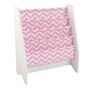 Kidkraft - Bokhylla - White Sling Bookshelf Pink