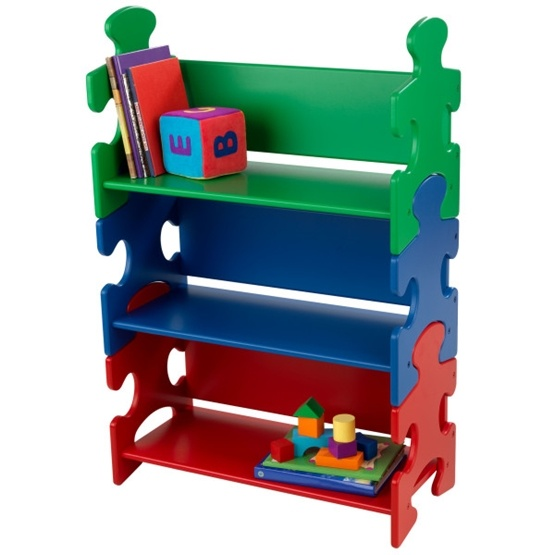 Kidkraft - Bokhylla - Puzzle Bookshelf - Primary