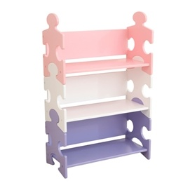 Kidkraft - Bokhylla - Puzzle Bookshelf - Pastel