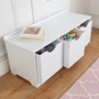 Kidkraft - Förvaringsbänk - Nantucket Storage Bench - White