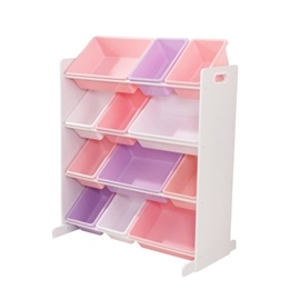 Kidkraft - Förvaringslådor - Sort It and Store It Bin Unit - White Pastel