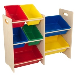 Kidkraft - Förvaring - 7 Bin Storage Unit Natural