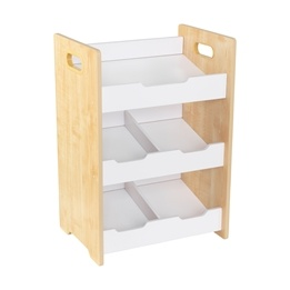Kidkraft - Förvaring - Angled Bin Unit - Natural  W/ White Shelves