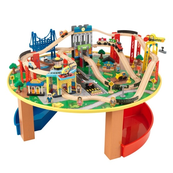Kidkraft - Tågbana - City Explorers Train Table & Set