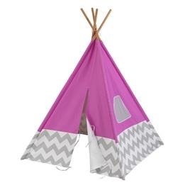 Kidkraft - Lektält - Play Teepee - Pink With Gray And White Chevron