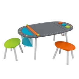 Kidkraft - Ritbord - Chalkboard Art Table With Stools