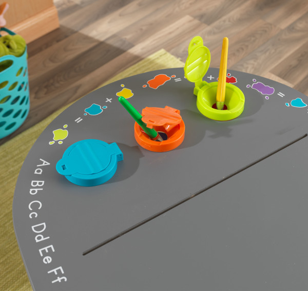 Kidkraft Ritbord Chalkboard Art Table With Stools