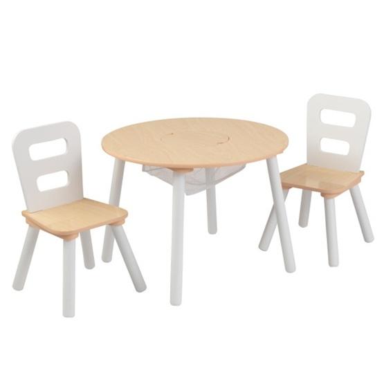 Kidkraft - Bord Och Stolar - Round Storage Table and Chair Set