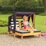 Kidkraft - Double Chaise Lounge With Cup Holders - Honey With Navy & White Stripes