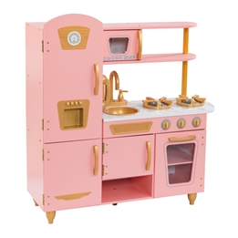 Kidkraft - Barnkök - Limited Edition Vintage Kitchen Pink & Gold