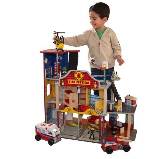 Kidkraft - Lekset Brandstation - Delux Fire Station Set