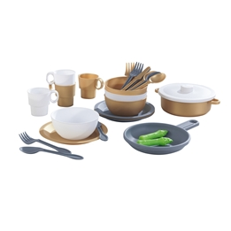 Kidkraft - Tillbehör Barnkök - 27 pieces cookware Set - Modern Metallics