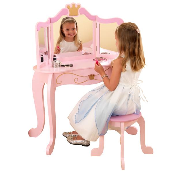 Kidkraft Sminkbord& Pall Prinsessa Litenleker Se