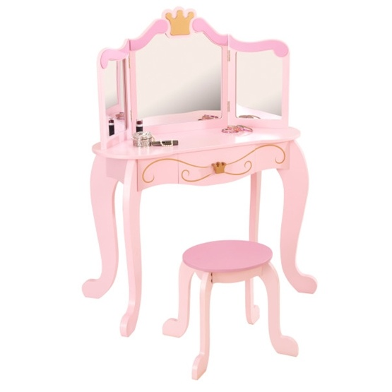 Kidkraft - Sminkbord & Pall - Prinsessa