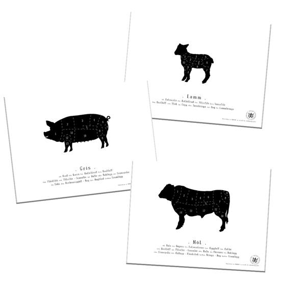 Knaada - Styckning (3-p) -18x24 Cm