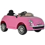 Elbil - Fiat 500CC Pink Battery Opperated 651R