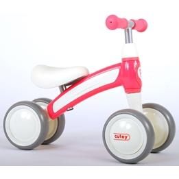 Gåcykel -Qplay - 4 Hjul - Rosa