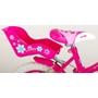Volare - Lovely 14 Tum - Rosa/Vit - 2 Handbromsar