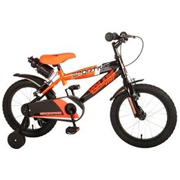 Volare - Sportivo 16 Tum - Orange/Svart - Dubbla Handbromsar